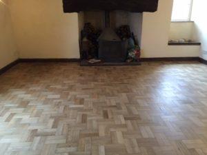 Parquet Floor - After sanding