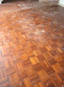 teak floor sanding in London before