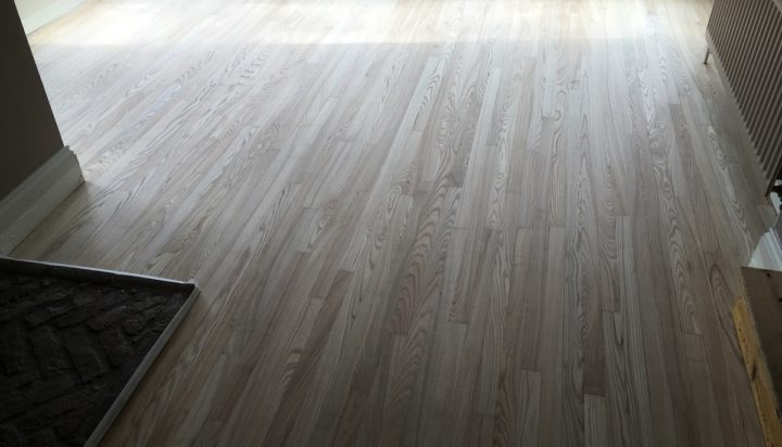Oak floor after sanding
