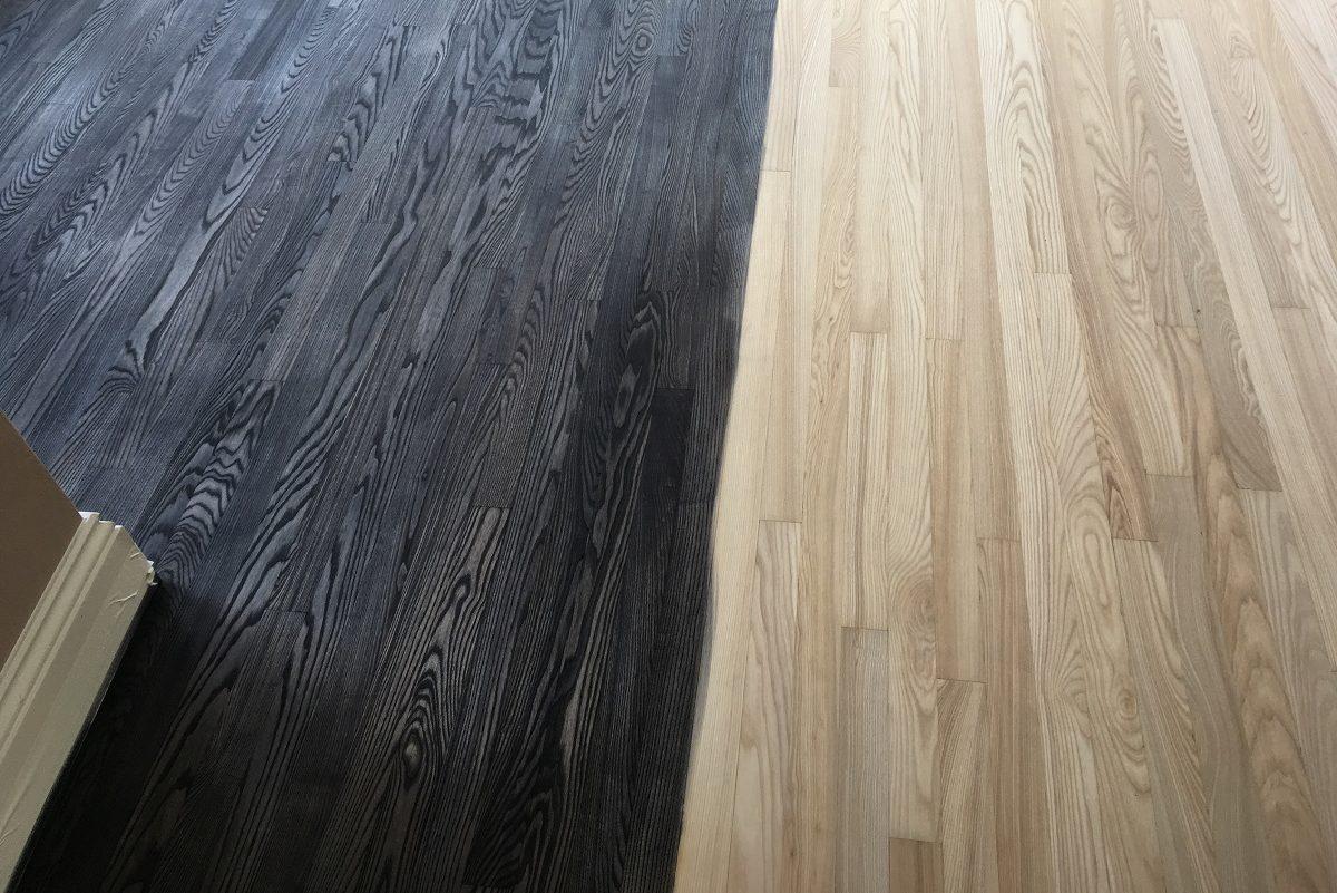 Dark Stain On Oak Floor Ultimate Floor Sanding