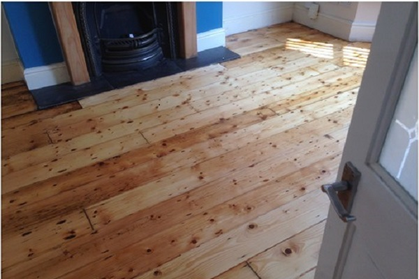 pine floor after restoration