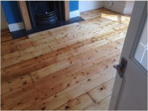 pine floorboards after restoration