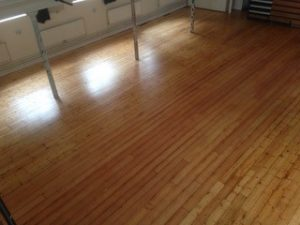 commercial pine floor restoration