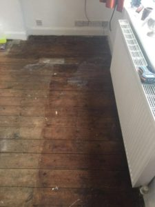 oak floor restoration project