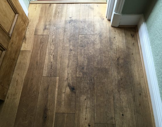 high traffic oak floor
